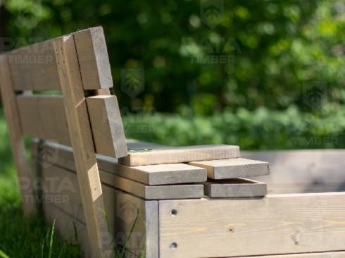 Smėlio dėžė su dangčiu 1,2m...